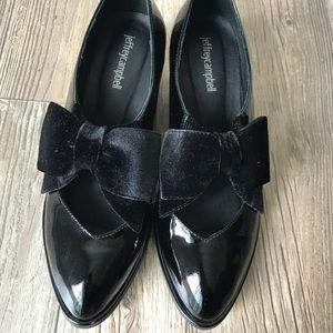 Jeffrey Campbell leather pearl loafers